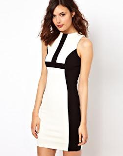 Warehouse BW dress.2